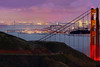"Gigapixel Panorama - City Lights : ""City Lights - San Francisco at Dusk"" (IMPORTANT! You can only buy the first 4 photos, since they make up the panorama.  This is a 1.1 gigapixel (13,423h x 80,540w, 1x6 ratio) view of San Francisco, sized down and cropped into 4-2x3 ratio pictures to get them under the 24mb size limit.  Each photo can be printed at 24x36 inches at 240 DPI!   Each pixel represents 4 pixels from the full-sized panorama, so each pixel is super sharp but not oversharpened.  The panorama was created from 112, 11-second exposures with the Canon 5D MKII, a Canon 500L lens with a 1.4 extender.  The photos were taken  were taken just after sunset from the Marin Headlands on several different evenings under similar lighting conditions over a 2-month period.  The big panorama could easily be printed at 36ft wide by 6 ft tall (200dpi) with fine resolution with no pixelation or noise visible!  Contact me, Patrick Smith at patrick@patricksmithphotography.com for more information."